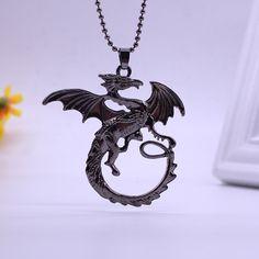 Game Of Thrones Necklace Targaryen Dragon Badge Necklace