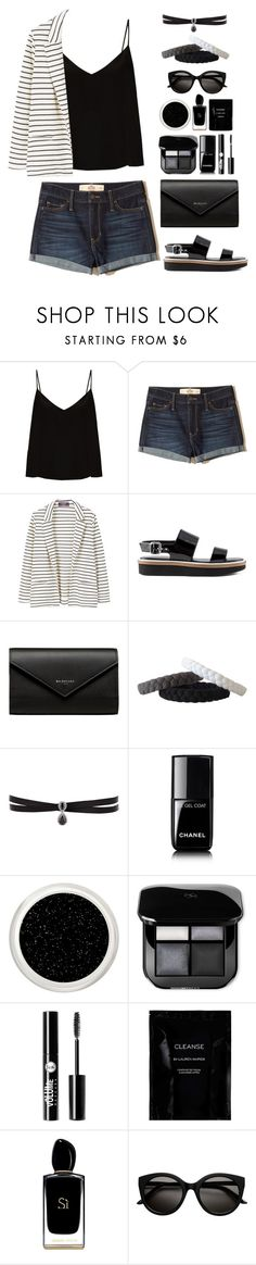 """""""Striped Jacket"""" by gicreazioni ❤ liked on Polyvore featuring Raey, Hollister Co., MANGO, Tod's, Balenciaga, Fallon, Chanel, Charlotte Russe, Cleanse by Lauren Napier and Giorgio Armani"""