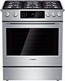 Bosch Slide-in Gas Range with 5 Sealed Burners, BTU Center Burner, cu. Convection Oven, Pyrolytic Self-Clean, 9 Cooking Modes and Warming Drawer Ranger, Bosch Appliances, Kitchen Appliances, Kitchen Reno, Kitchen Ranges, Loft Kitchen, Kitchen Layouts, Kitchen Remodeling, Kitchen Designs