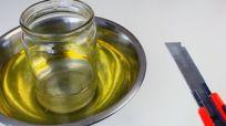 découper un récipient en verre avec juste de l'eau et de l'huile : YouTube