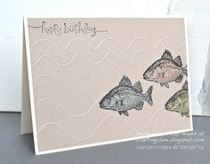 Card using By the Tide from Stampin' Up do I have to get the wavy score board?
