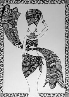 african zentangle