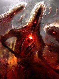 cosmic horror art at DuckDuckGo Dark Fantasy Art, Fantasy Artwork, Dark Art, Space Fantasy, Monster Art, Monster Sketch, Monster Concept Art, Creepy Monster, Arte Horror