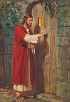 """""""God's Son, our Savior and Redeemer, speaks to each of us today: 'Behold, I stand at the door, and knock: if any man hear my voice, and open the door, I will come in to him' (Revelation 3:20). Will we listen for that knock? Will we hear that voice? Will we open that door to the Lord, that we may receive the help He is so ready to provide? I pray that we will."""" –Thomas S. Monson www.facebook.com/pages/The-Lord-Jesus-Christ/173301249409767"""