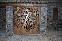 Grille arbre de vie inspiré des oeuvres d'art déco d'Edgar Brandt fer forgé