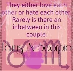 Scorpio and taurus polar opposites book