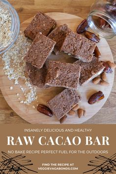 These raw cacao bars are the perfect energy munch for outdoor adventures. The slow-release energy from the dates, oats and cacao means they'll keep you pedaling up hills and clambering up peaks for hours. The no-bake recipe can be whipped up in a hurry, giving you time to focus on getting out there. Plus this cacao bar recipe can be stored in the fridge and flung into your bag to eat on the trail.