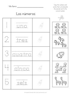 Spanish Numbers Worksheets for Kids