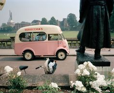 Martin Parr. GB. England. Bristol. Clifton. An Ice Cream van. 1987