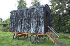 Black Shed, Black Shepherd, Shepherds Hut, Wheelbarrow, Caravan, Garden Tools, Restoration, Explore, Projects