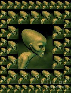 Digital Art - Alien Files by Esoterica Art Agency , Teacher Brochure, Esoteric Art, Alien Art, Brochure Template, Ufo, Weird, Sci Fi, Digital Art, Design Inspiration