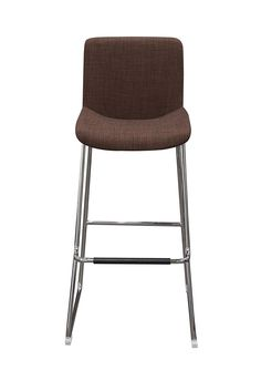 Diamond Sofa Home Furniture Contemporary 2-Pack Bar Stools with Chrome Base Chocolate The sophisticated, modern style of this stool from Diamond Sofa exudes character with its high back seat providing full support and comfort. Instantly will add style to your room's decor.