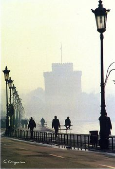 misty day in Thessaloniki, Greece Parthenon, Acropolis, Travel Around The World, Around The Worlds, Misty Day, In Ancient Times, Macedonia, Crete, Mykonos