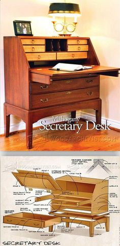 Secretary Desk Plans - Furniture Plans and Projects | WoodArchivist.com