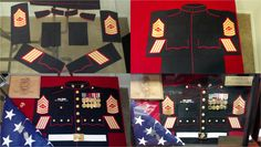 Part-2 DIY Marine Shadowbox, made a set of Dress Blues with fabric from Jo-Ann's, just made templates and measurements from the Blues coat