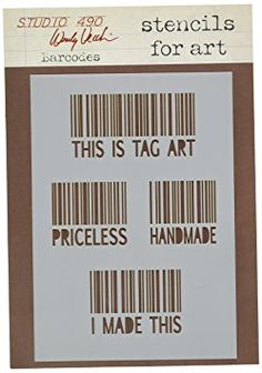 Stampers Anonymous Wendy Vecchi Studio Stencil Collection, 6.5-Inch by 4.5-Inch, Barcodes