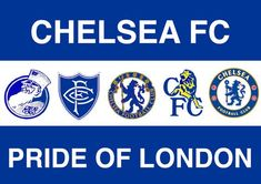 Pride of London - Chelsea FC Chelsea Fc, Chelsea Blue, Chelsea Football, Fifa Football, Football Team Logos, London Pride, Football Casuals, London Clubs, Stamford Bridge