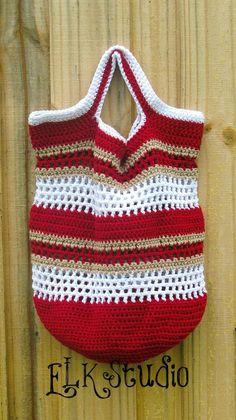 Fun in the Sun Free Crochet Beach Bag by ELK Studio