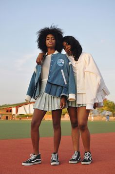 Seeing Double Doubles editorial photographed by Shiriya Samavai for Rookie Mag Doubles: tennis inspired shoot Photoshoot Inspiration, Mode Inspiration, Writing Inspiration, Black Girl Magic, Black Girls, Poses, Tennis Fashion, Vans Girls, Foto Pose