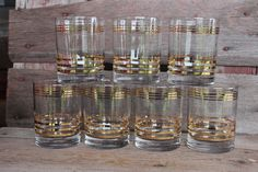 Vintage Whiskey Scotch old fashioned tumblers by polkadotsandcurls, $24.50