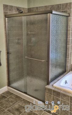 Elegant Semi Frameless Shower Slider With Rain Gl And Brushed Nickel Hardware
