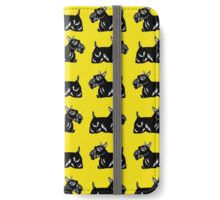 Scottie Dogs Yellow and Black Pattern iPhone Wallet/Case/Skin - via redbubble