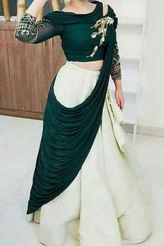 Indian Gowns Dresses, Indian Fashion Dresses, Indian Designer Outfits, Indian Outfits, Designer Dresses, Fashion Outfits, Modest Fashion, Choli Dress, Lehga Choli