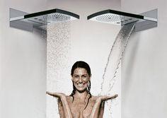 regendouche met mogelijkheid voor stortdouche