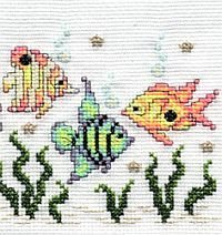 tropical fish - (free pdf chart & key link under 'Printing Instructions')