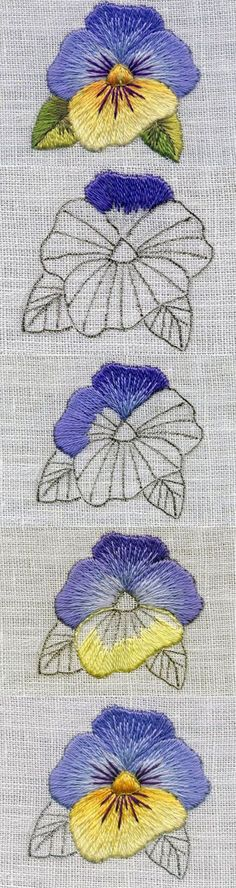 Marvelous Crewel Embroidery Long Short Soft Shading In Colors Ideas. Enchanting Crewel Embroidery Long Short Soft Shading In Colors Ideas. Crewel Embroidery, Paper Embroidery, Hand Embroidery Stitches, Embroidery Techniques, Cross Stitch Embroidery, Machine Embroidery, Embroidery Designs, Embroidery Digitizing, Diy Embroidery Flowers