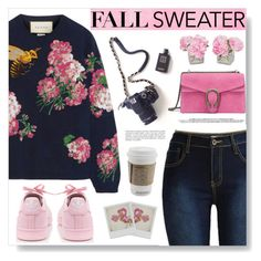 """Cozy Fall Sweater"" by fashiondiaryy ❤ liked on Polyvore featuring adidas, Designers Guild, Disney, Gucci and The French Bee"