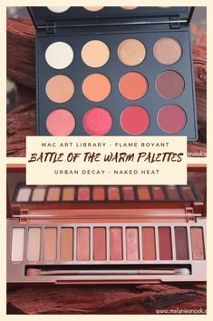 {BOTB} High End Warm Palettes | Melanie's Nook Mac Palette, Urban Decay Palette, Smashbox Cover Shot Palette, Mac Counter, Urban Decay Naked Heat, Huge Mirror, Better Together, Warm Colors, Makeup Yourself