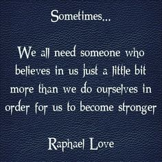 Sometimes... We all...