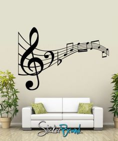 Vinyl Wall Decal Sticker Music Notes KRiley125m | stickerbrand - Housewares on ArtFire