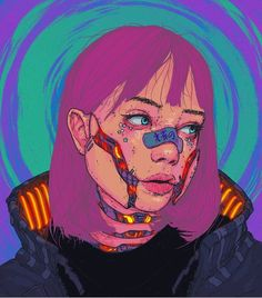 Can anyone tell the artist of this artwork and/or a high resolution picture of it is available? Arte Cyberpunk, Cyberpunk Aesthetic, Arte Dope, Dope Art, Arte Indie, Posca Art, Arte Sketchbook, Grunge Art, Hippie Art