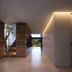 Bismarkia on Behance Led Stair Lights, Stair Lighting, Interior Lighting, Lighting Design, Lighting Ideas, Hallway Colour Schemes, Hallway Colours, Ideas Actuales, Decor Ideas