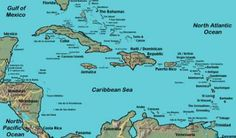 Map of the #Caribbean