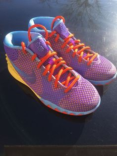size 40 eecf5 dd60a Nike Kyrie 1 GS Basketball Shoes Size 5Y Purple Yellow Red Blue  Nike   Athletic