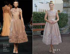 Jennifer Morrison en Georges Hobeika Couture - ''Monaco Palace Cocktail Reception''