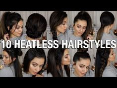 10 MESSY BUN hairstyles for back to school, party, everyday Quick and easy hair tutorial Quick Braided Hairstyles, Cool Hairstyles For Girls, Heatless Hairstyles, Easy Hairstyles For Medium Hair, Easy Hairstyles For Long Hair, Teen Hairstyles, Medium Hair Styles, Long Hair Styles, Short Hairstyle
