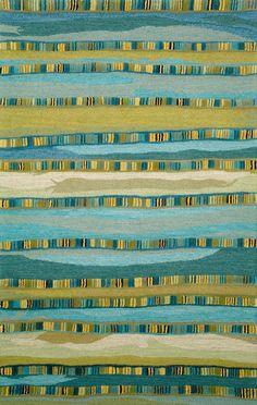 Blue stripe area rug