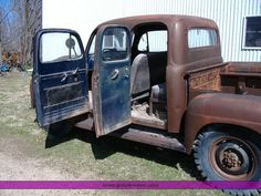 1952 ford 8' express bed - Google Search Ford Trucks For Sale, Old Ford Trucks, Farm Trucks, Toy Trucks, 1952 Ford Truck, Jeep Truck, Pick Up, Mustang, Vintage Pickup Trucks