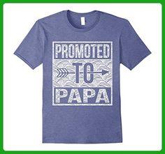 Mens Promoted To Papa shirt Medium Heather Blue - Relatives and family shirts (*Amazon Partner-Link)
