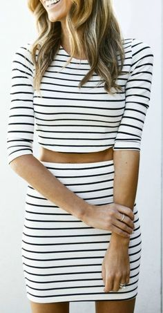 Crop + Stripes