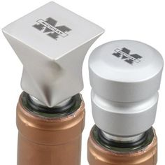 Michigan Wolverines Brushed Metal Wine Stoppers