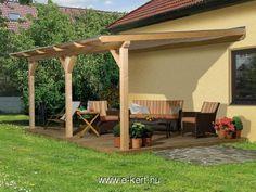 Terasztető fából 4.méret   e-kert - minden ami kert   kerti házak, nyitott garázs, kerti bútor, szauna, kerti medence, WEKA