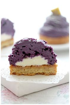 Foodagraphy. By Chelle.: Purple Sweet Potato Mont Blanc (紅いも モンブラン)