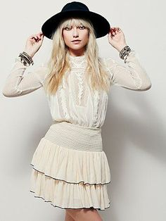 Free People Flirty Frills Mini Skirt at Free People Clothing Boutique