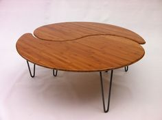 Yin Yang Nesting Large Round Coffee Table - Mid-Century Modern - Atomic Era Design In Bamboo - Comes as a Pair of Two on Etsy, $625.00