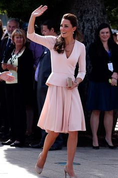 Kate Middleton in Alexander McQueen during an Australia Tour event. April, 2014.